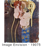 #19075 Photo Of Part Of The Beethoven Frieze By Gustav Klimt