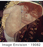 #19082 Photo of a Nude Woman With Long Red Hair, Danae by Gustav Klimt by JVPD