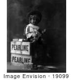 #19099 Photo Of A Boy Crying After Eating Pearline Soap On A Vintage Advertisement