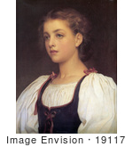 #19117 Photo Of A Portrait Of A Girl Biondina By Frederic Lord Leighton