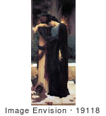 #19118 Photo Of A Sad Woman In A Black Robe Titled Lachrymae By Frederic Lord Leighton