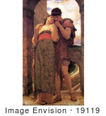#19119 Photo of a Couple Embracing, Wedded by Frederic Lord Leighton by JVPD