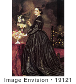 #19121 Photo Of A Woman And Flowers Mrs James Guthrie By Frederic Lord Leighton