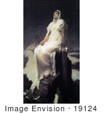 #19124 Photo Of The Spirit Of The Summit By Frederic Lord Leighton