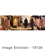 #19126 Photo of Women in Robes With Big Cats on Leashes, The Syracusan Bride by Frederic Lord Leighton by JVPD