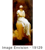 #19129 Photo Of A Lone Woman Titled Solitude By Frederic Lord Leighton