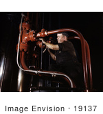 #19137 Photo of a Maintenance Man at the Combustion Engineering Co, 1942 by JVPD