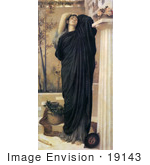 #19143 Photo Of Electra At The Tomb Of Agamemnon By Frederic Lord Leighton