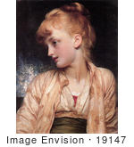 #19147 Photo Of A Girl Looking Left Gulnihal By Frederic Lord Leighton