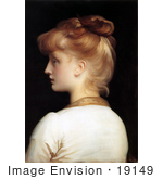 #19149 Photo Of A Red Haired Girl From Behind Looking Left By Frederic Lord Leighton