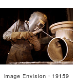 #19159 Photo Of A Welder Making Boilers For A Ship At Combustion Engineering Co 1942
