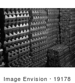 #19178 Photo Of Certified Aluminum Ingots In A Storage Room In An Aluminum Plant