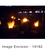 #19182 Rotary Oil Fired Melting Furnaces In 1942