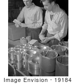 #19184 Photo of Male Factory Workers Wrapping and Packaging Pistons for Shipment by JVPD