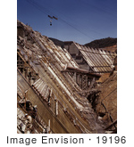 #19196 Photo Of A Construction Site Of The Shasta Dam Redding California 1942