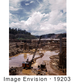 #19203 Photo Of Early Stages Of Construction On The Douglas Dam 1942
