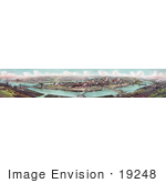#19248 Photo Of Pittsburg Pennsylvania And Allegheny And Monongahela Rivers 1903