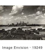 #19249 Photo Of The Skyline Of Detroit Michigan In 1929