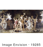 #19285 Photo of Nude Men, Women and Centaurs Dancing, the Youth of Bacchus, by William-Adolphe Bouguereau by JVPD