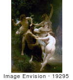#19295 Photo Of Nymphes Et Satires Nymphs And Satyr By William-Adolphe Bouguereau