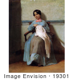#19301 Photo Of A Portrait Of Leonie Bouguereau By William-Adolphe Bouguereau