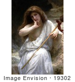 #19302 Photo of a Nude Woman Draped in a Cloth, Mailice by William-Adolphe Bouguereau by JVPD