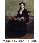 #19305 Photo Of A Portrait Of Genevieve Bouguereau