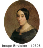 #19306 Photo Of A Portrait Of Amelina Dufaud Bouguereau By William-Adolphe Bouguereau