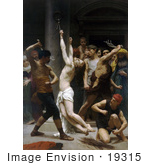 #19315 Photo Of The Flagellation Of Our Lord Jesus Christ By William-Adolphe Bouguereau