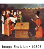 #19356 Photo Of A Magician Performing A Magic Trick The Conjurer By Jheronimus Bosch