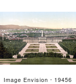 #19456 Stock Photo Of Gardens And Schonbrunn Palace In Vienna Austria