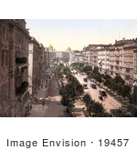 #19457 Stock Photo Of The Karntnerring And The Grand Hotel In Vienna Austria Austro-Hungary
