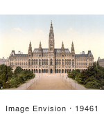 #19461 Stock Photo Of The Rathaus City Hall Courthouse In Vienna Austria