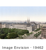 #19462 Stock Photo Of The University Of Vienna And Spires Of The Votive Church Austria