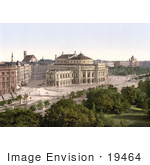 #19464 Stock Photo Of The Burgtheater The City Theatre In Vienna Austria Austro-Hungary