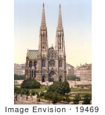 #19469 Stock Photo Of The Votivkirche Votive Church In Vienna Austria Austro-Hungary