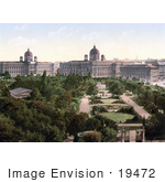 #19472 Stock Photo Of The Public Park Gardens In Vienna Austria Austro-Hungary