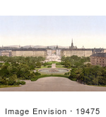 #19475 Stock Photo Of A View On Vienna From The Schwarzenberg Austria Austro-Hungary