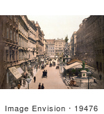 #19476 Stock Photo Of The Pestsaule Plague Column And Lowenbrunnen Lion Fountain In The Graben City Center In Vienna Austria