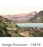 #19479 Photo Of The Town Of Zell On The Lake Zell Am See Austria