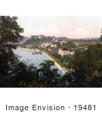 #19481 Photo Of The Waterfront Village Of Grein In Upper Austria