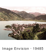#19485 Photo Of The Village Of Zell On The Zell Am See Lake Austria