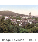 #19491 Photo Of The Spa Town Of Voslau Or Bad Voeslau In Lower Austria
