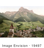 #19497 Photo Of The Village Of Eisenerz In The Erzbach Valley Styria Upper Austria