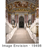 #19498 Photo Of A Staircase Inside The Opera House In Vienna Austria