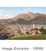 #19500 Photo Of St Gilgen On Wolfgangsee Lake Looking Towards The Schafberg Mountain In Upper Austria
