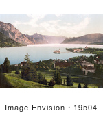 #19504 Photo Of The Schloss Ort And Village Of Gmunden On Lake Traunsee Upper Austria