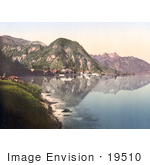 #19510 Photo Of The Village Of Weissenbach On The Attersee Or Kammersee Lake Upper Austria