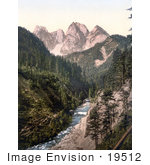 #19512 Photo Of A View On The Gosaubach With A River In The Foreground Upper Austria