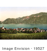 #19527 Photo Of The Village Of Unterach On Lake Attersee Upper Austria